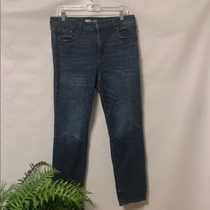 OLD NAVY POWER STRAIGHT HIGH RISE JEANS SIZE 14
